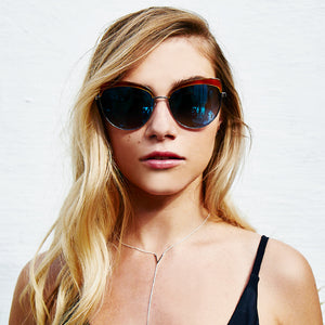 IZZY - HONEY TORTOISE LIGHT GUNMETAL + BLUE FLASH + POLARIZED