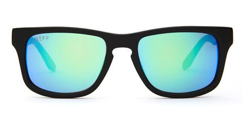 RILEY - BLACK FRAME - BLUE MIRROR LENS - DIFF Eyewear  - 1