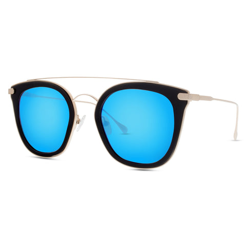 ZOEY - BLACK + BLUE MIRROR + POLARIZED