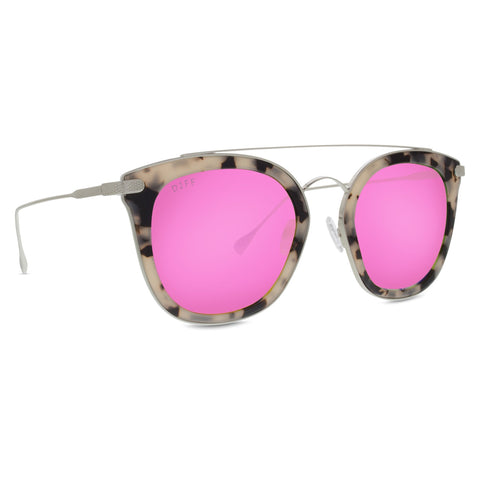 ZOEY - CREAM TORTOISE + PINK MIRROR + POLARIZED