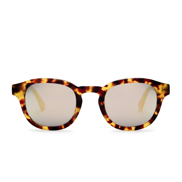 arlo amber tortoise and gold mirror front