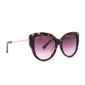 AVERY sunglasses with wine tortoise and wine gradient polarized lens angle  view
