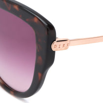 AVERY sunglasses with wine tortoise and wine gradient polarized lens detailed shot