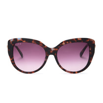 AVERY sunglasses with wine tortoise and wine gradient polarized lens front view