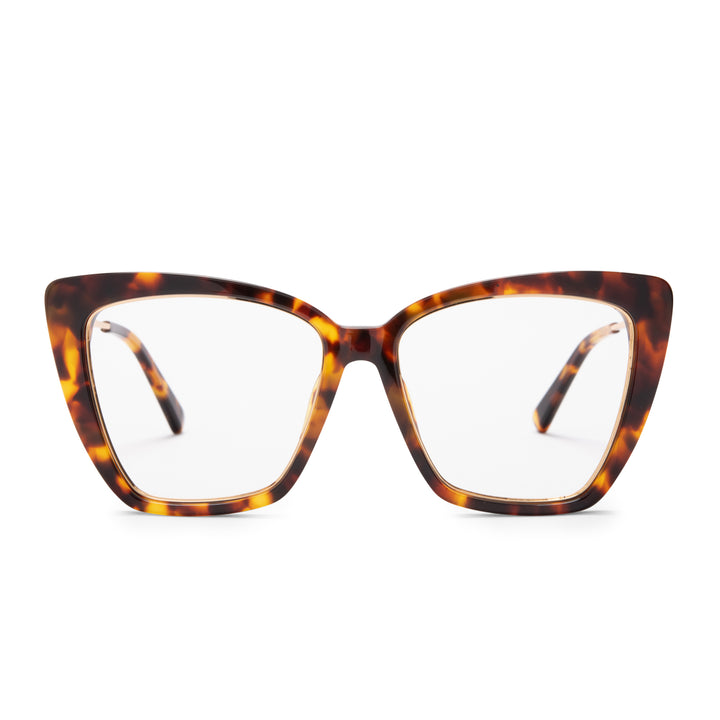 Becky IV Amber Tortoise and blue light technology front