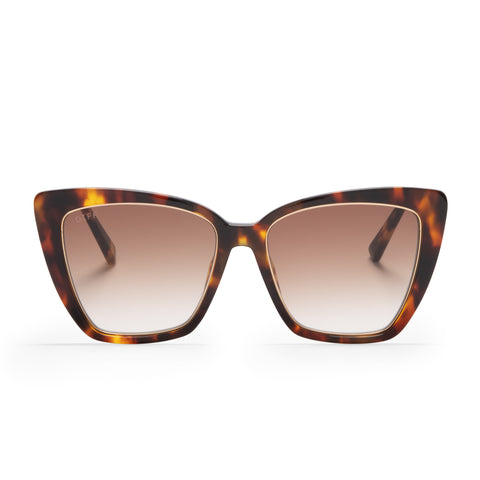 becky iv amber tortoise and brown gradient front