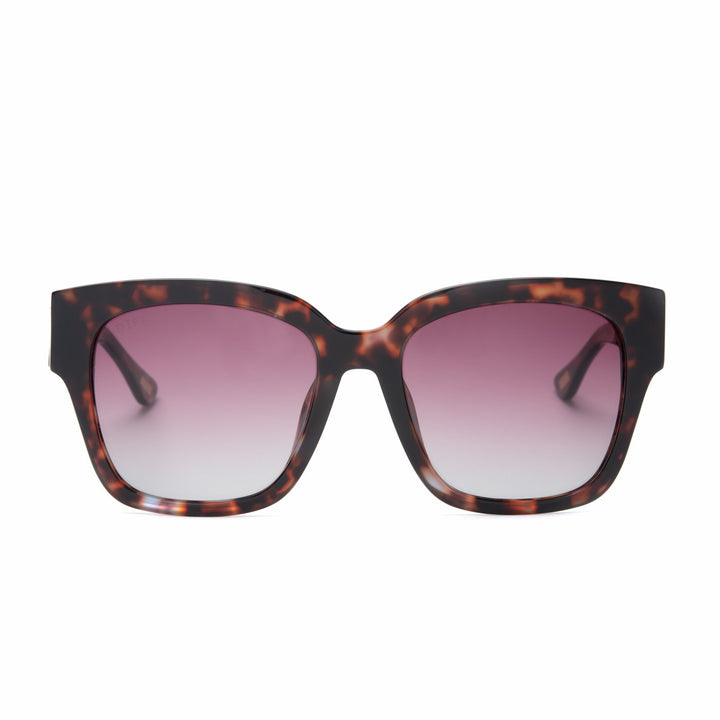 Bella 2 tortoise frame with wine gradient lens - front view