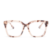 Bella eyeglasses with cream tortoise frames with blue light technology lens front view