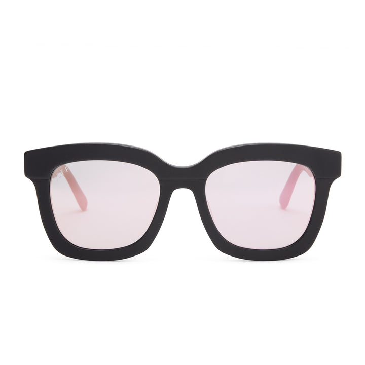 CARSON - MATTE BLACK + PINK MIRROR + POLARIZED