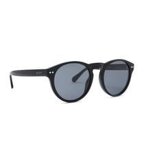 Cody sunglasses with black frames and grey polarized lens angle view