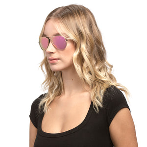 cruz gold pink mirror angle on female