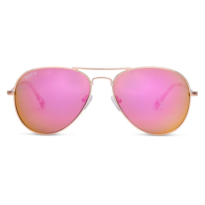 cruz rose gold pink mirror front