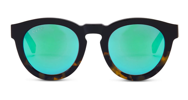 DIME II - WILD AND FREE - TWO TONE - GREEN BLUE MIRROR LENS - DIFF Eyewear  - 1