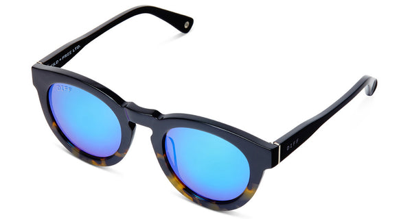 DIME II - WILD AND FREE - TWO TONE - GREEN BLUE MIRROR LENS - DIFF Eyewear  - 6