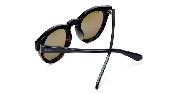 DIME II - WILD AND FREE - TWO TONE FRAME- GOLD MIRROR LENS - DIFF Eyewear  - 8