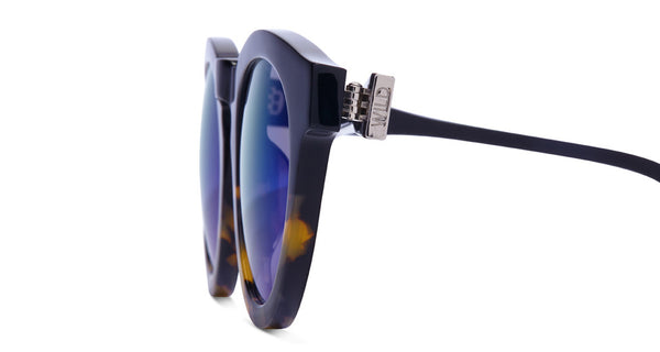 DIME II - WILD AND FREE - TWO TONE - GREEN BLUE MIRROR LENS - DIFF Eyewear  - 3