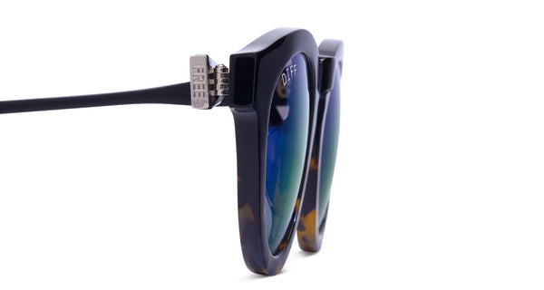 DIME II - WILD AND FREE - TWO TONE - GREEN BLUE MIRROR LENS - DIFF Eyewear  - 5