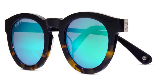 DIME II - WILD AND FREE - TWO TONE - GREEN BLUE MIRROR LENS - DIFF Eyewear  - 2