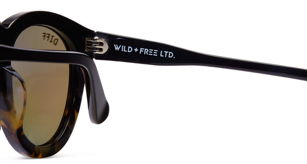 DIME II - WILD AND FREE - TWO TONE FRAME- GOLD MIRROR LENS - DIFF Eyewear  - 9