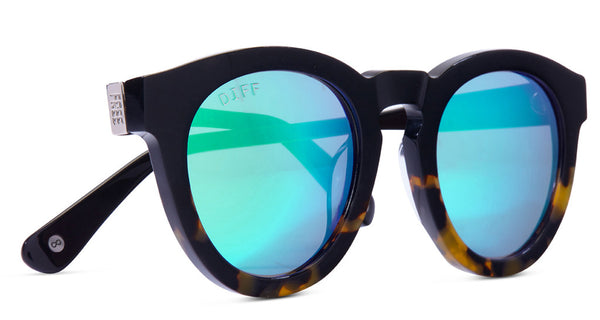 DIME II - WILD AND FREE - TWO TONE - GREEN BLUE MIRROR LENS - DIFF Eyewear  - 4