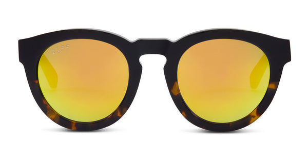 DIME II - WILD AND FREE - TWO TONE FRAME- GOLD MIRROR LENS - DIFF Eyewear  - 1