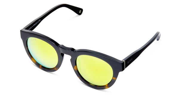 DIME II - WILD AND FREE - TWO TONE FRAME- GOLD MIRROR LENS - DIFF Eyewear  - 6