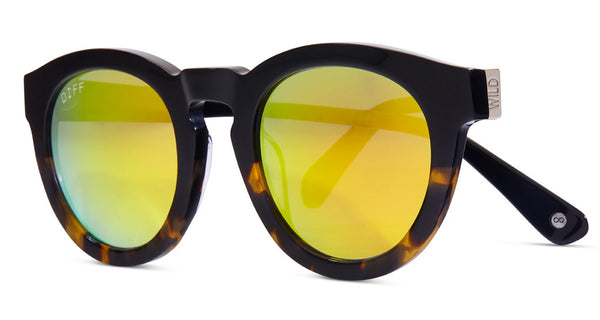 DIME II - WILD AND FREE - TWO TONE FRAME- GOLD MIRROR LENS - DIFF Eyewear  - 2