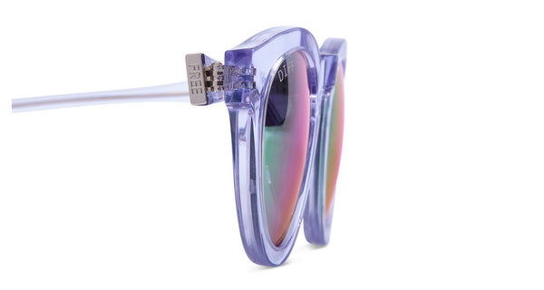 DIME II - WILD AND FREE - CLEAR FRAME - BLUE MIRROR LENS - DIFF Eyewear  - 5