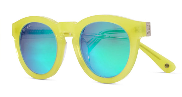 DIME II - WILD AND FREE - YELLOW - GREEN BLUE MIRROR LENS - DIFF Eyewear  - 2
