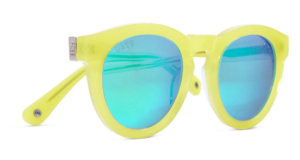 DIME II - WILD AND FREE - YELLOW - GREEN BLUE MIRROR LENS - DIFF Eyewear  - 3