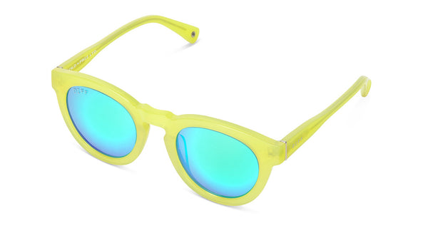 DIME II - WILD AND FREE - YELLOW - GREEN BLUE MIRROR LENS - DIFF Eyewear  - 4