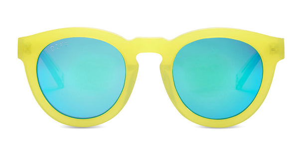 DIME II - WILD AND FREE - YELLOW - GREEN BLUE MIRROR LENS - DIFF Eyewear  - 1