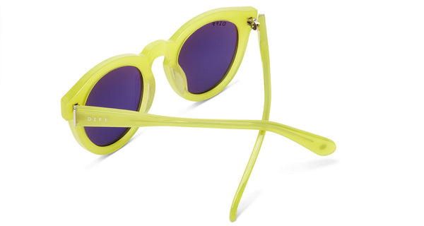 DIME II - WILD AND FREE - YELLOW - GREEN BLUE MIRROR LENS - DIFF Eyewear  - 6