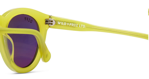 DIME II - WILD AND FREE - YELLOW - GREEN BLUE MIRROR LENS - DIFF Eyewear  - 8