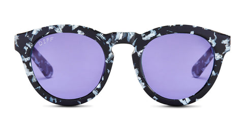 DIME II - BLACK / WHITE - PURPLE COLOR THERAPY LENS - DIFF Eyewear