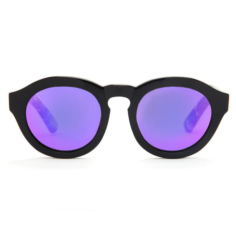 DIME - GLOSS BLACK + PURPLE MIRROR + POLARIZED