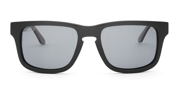 RILEY - BLACK FRAME - POLARIZED GREY LENS - DIFF Eyewear  - 1