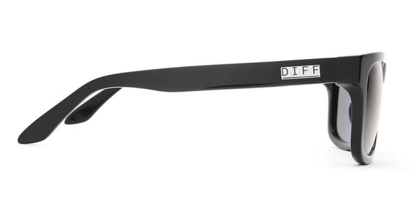 RILEY - BLACK FRAME - POLARIZED GREY LENS - DIFF Eyewear  - 2