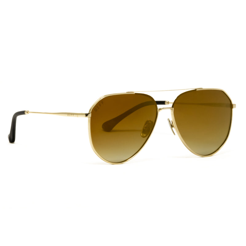 JESSIE JAMES DECKER - DASH + GOLD MIRROR GRADIENT POLARIZED