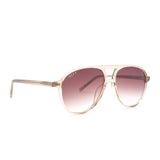 Jett sunglasses with vintage crystal frames and brown gradient lens angle view