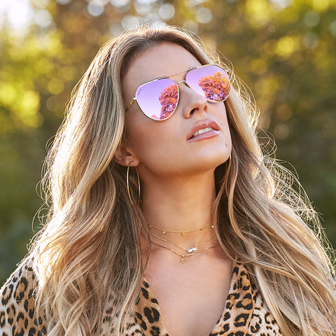 JESSIE JAMES DECKER - DASH + GOLD + PINK MIRROR POLARIZED
