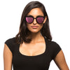 LILY - MATTE BLACK + PINK MIRROR POLARIZED