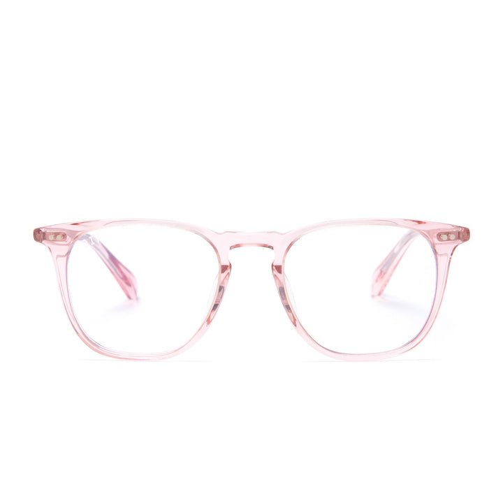 Maxwell glasses light pink frames with blue light technology front view