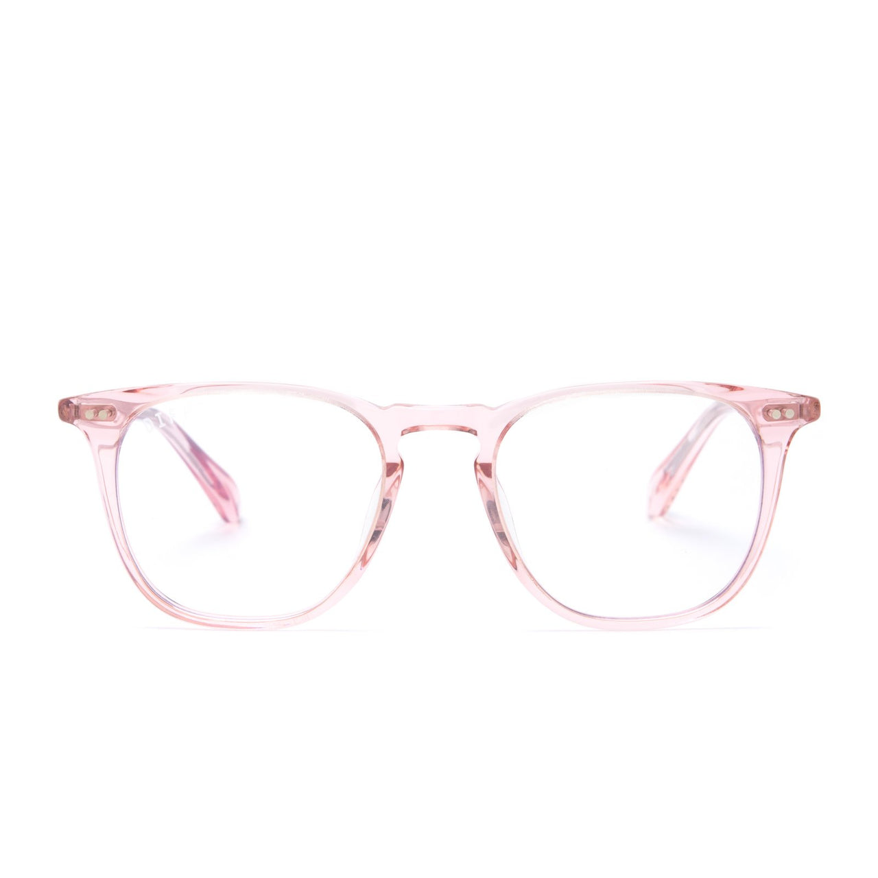 Maxwell prescription glasses with light pink frames front view
