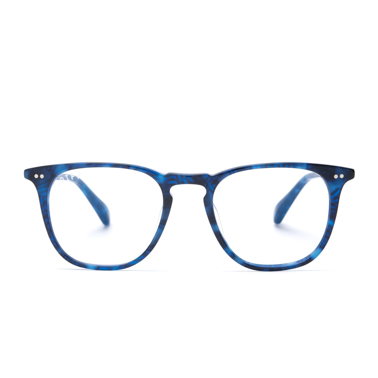 Maxwell prescription glasses with regal blue frames front view