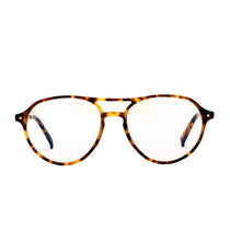 Miller amber tortoise blue light front