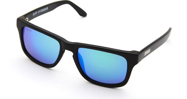 RILEY - BLACK FRAME - BLUE MIRROR LENS - DIFF Eyewear  - 3