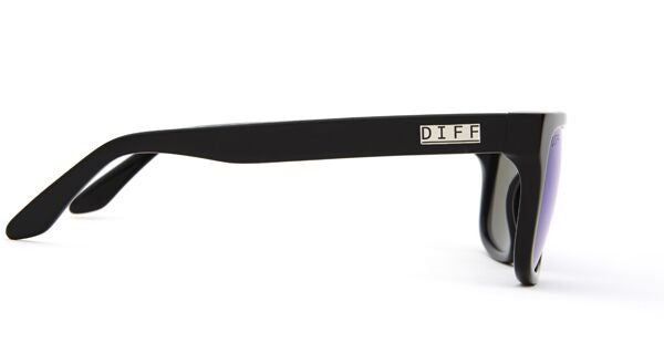 RILEY - BLACK FRAME - BLUE MIRROR LENS - DIFF Eyewear  - 2