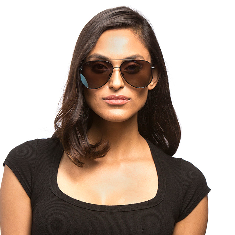 BECCA KUFRIN - NALA + BLACK + BLUE FLASH POLARIZED
