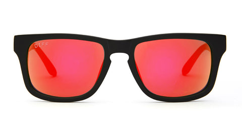 RILEY - BLACK FRAME - RED MIRROR LENS - DIFF Eyewear  - 1